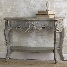 Vintage French Gray Console Table Shades Of Light Traditional