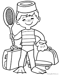 Sports Coloring Page To Print 003
