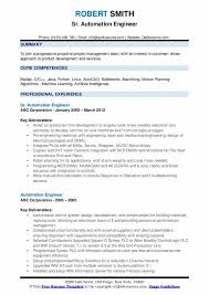 Professional Engineer Resume Samples Automation Engineer Resume Samples Qwikresume