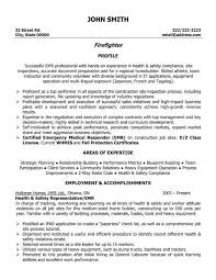 Firefighter Resume Templates Simple Firefighter Resume Examples As Resume Objective Example