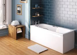 modern bathroom with blue tiled wall