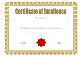 Certificate Of Excellence Template Word Certificate of Excellence Templates The Best Template Collection 28