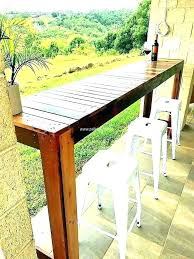 diy outdoor bar small ideas simple kitchen top for outside marvellous patio stools height table plans