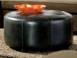round leather ottoman. Rent The Ottoman - Black Leather Round