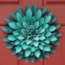 Flower Out Of Paper Paper Dahlia Flower Wreath Sk This Paper Flower Is 3d And Its