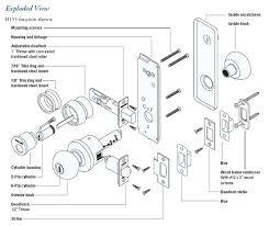 door handle parts. Door Knob Parts H Series Exploded View Lock Names . Handle