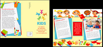 brochure daycare brochure template templates daycare brochure template
