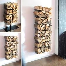 modern indoor firewood holder ideas wall mounted firewood holder