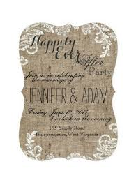 best 25 wedding reception invitation wording ideas on pinterest Wedding Messages Happily Ever After happily ever after party burlap and lace themed rustic shabby chic country fancy wedding reception only wedding message happy ever after