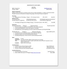 It Internship Resume Samples Internship Resume Template 18 Samples Examples