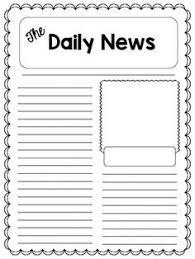 Kids Newspaper Template Plain Newspaper Template Zlatan Fontanacountryinn Com