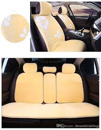 auto car seat cover full sets universal fit 5 seat suv sedans front back seat mats automotive interior warm soft short fur flower seat pads for cars summer