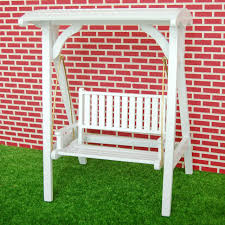 dollhouse outdoor furniture. New 1/12 Scale Dollhouse Miniature Garden Furniture Wooden Swing Rocking Chair White 1: Outdoor