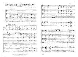 dance of the sugar plum fairy sheet music dance of the sugar plum fairy one of a set of four a cappella
