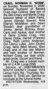 """Norman D. """"Norm"""" Craig - Obituary - Newspapers.com"""