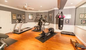 home gym lighting. home gym with large mirror and bright lighting traditionalhomegym c