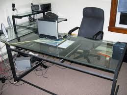 glass desks for office. image of glass l shaped office desk ikea corner gaming for desks