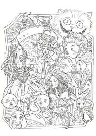 Small Picture ALICE in WONDERLAND Lineart by dwainio FREE download