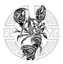 Fototapeta Znamení Raka Tetování Design