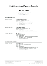 Part Time Job Resume Objective Part Time Resumes Job Resume Infinite