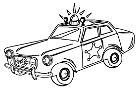 Police car coloring lesson kids coloring page coloring lesson