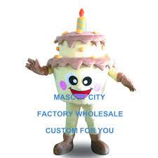 Adult Size Mascot Sweet Birthday Cake Mascot Costume Birthday Gift