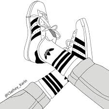 adidas shoes drawing. adidas ♥ tentokrát i z podpisem, again #adidas #shoes #black #weheartit shoes drawing