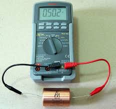 capacitor with a multimeter