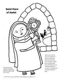 Francis Of Assisi Coloring Page St Of Coloring Pages This Is St Of