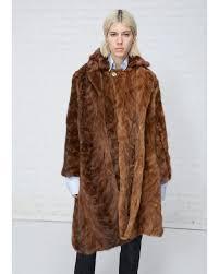 vetements light brown milanesa reworked vintage mink fur coat lyst