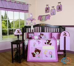 teddy bear crib sheet 15pcs girl teddy bear crib bedding set including mobile and lamp