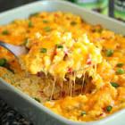 cheesy rice and corn casserole