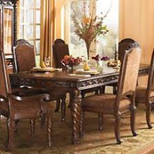 amazing ashley dining room table and chairs tables furniture home large north s rollover wood