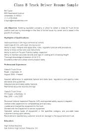 Resume Truck Driver Position Cdl Truck Driver Resume Truck Driver Job Description For Resume