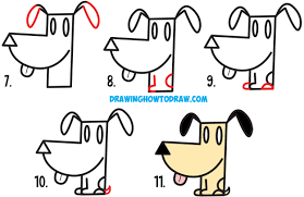 2500x1618 cartoon dog drawings easy drawing a cartoon dog how to draw a cute dog