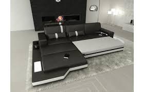 Sofa L Form Stoff Textil Grau Ecksofa Wohnlandschaft