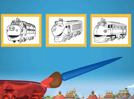 You can test your skills for combining colors just with a. Chuggington Coloring Game Chuggington Games