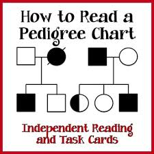 Pedigree Charts Task Cards Reading Passage And