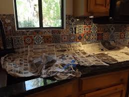 Diy Tile Kitchen Countertops Dusty Coyote Mexican Tile Kitchen Backsplash Diy