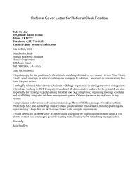 Cover Letter Referral Sample Cover Letter For Referral Under Fontanacountryinn Com