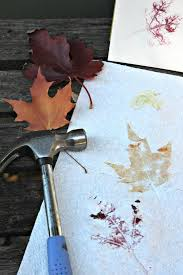 make a leaf print hammered