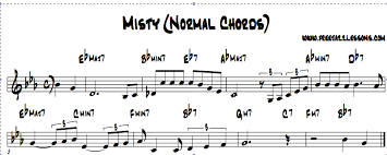 Misty Chord Chart With Amazing Reharmonizations
