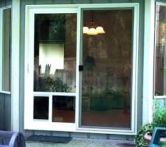 sliding glass door patio doors dog for with exterior built in pet doggie them french installed