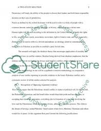 outline assignment a solution for the i palestinian related essays