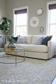 living room neutral deep sofa