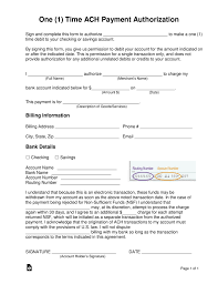 Recurring Payment Authorization Form Ach Form Omfar Mcpgroup Co