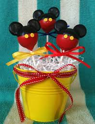mickey mouse cake pop birthday gift basket
