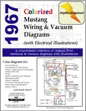1967 mustang shop manual d10017 1967 ford mustang wiring schematic and mustang vacuum diagrams