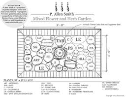 Small Picture Mixed Flower and Herb Garden