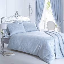 vantona rose damask jacquard duvet cover sets duck egg blue classic bedroom
